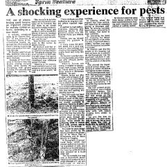 A shocking experience for pests