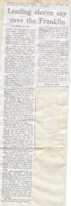 Franklin letter from 11 Australian notables